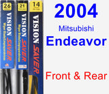 Front & Rear Wiper Blade Pack for 2004 Mitsubishi Endeavor - Vision Saver