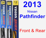 Front & Rear Wiper Blade Pack for 2013 Nissan Pathfinder - Vision Saver