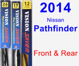 Front & Rear Wiper Blade Pack for 2014 Nissan Pathfinder - Vision Saver