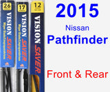 Front & Rear Wiper Blade Pack for 2015 Nissan Pathfinder - Vision Saver