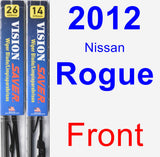 Front Wiper Blade Pack for 2012 Nissan Rogue - Vision Saver