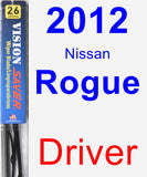 Driver Wiper Blade for 2012 Nissan Rogue - Vision Saver