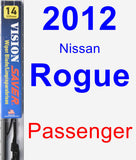 Passenger Wiper Blade for 2012 Nissan Rogue - Vision Saver