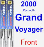 Front Wiper Blade Pack for 2000 Plymouth Grand Voyager - Vision Saver