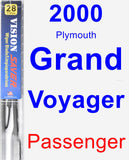 Passenger Wiper Blade for 2000 Plymouth Grand Voyager - Vision Saver