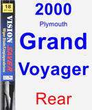 Rear Wiper Blade for 2000 Plymouth Grand Voyager - Vision Saver