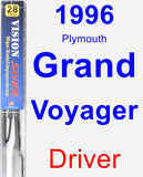 Driver Wiper Blade for 1996 Plymouth Grand Voyager - Vision Saver