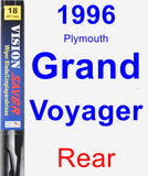 Rear Wiper Blade for 1996 Plymouth Grand Voyager - Vision Saver