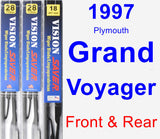 Front & Rear Wiper Blade Pack for 1997 Plymouth Grand Voyager - Vision Saver