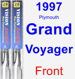 Front Wiper Blade Pack for 1997 Plymouth Grand Voyager - Vision Saver