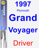 Driver Wiper Blade for 1997 Plymouth Grand Voyager - Vision Saver