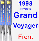 Front Wiper Blade Pack for 1998 Plymouth Grand Voyager - Vision Saver