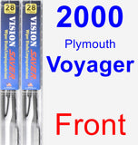 Front Wiper Blade Pack for 2000 Plymouth Voyager - Vision Saver