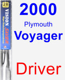 Driver Wiper Blade for 2000 Plymouth Voyager - Vision Saver