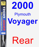 Rear Wiper Blade for 2000 Plymouth Voyager - Vision Saver