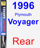 Rear Wiper Blade for 1996 Plymouth Voyager - Vision Saver