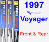 Front & Rear Wiper Blade Pack for 1997 Plymouth Voyager - Vision Saver