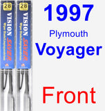 Front Wiper Blade Pack for 1997 Plymouth Voyager - Vision Saver