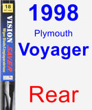Rear Wiper Blade for 1998 Plymouth Voyager - Vision Saver