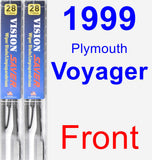 Front Wiper Blade Pack for 1999 Plymouth Voyager - Vision Saver