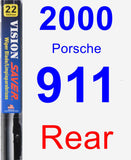 Rear Wiper Blade for 2000 Porsche 911 - Vision Saver