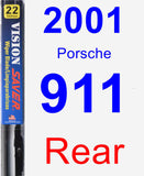 Rear Wiper Blade for 2001 Porsche 911 - Vision Saver
