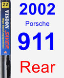 Rear Wiper Blade for 2002 Porsche 911 - Vision Saver