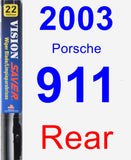Rear Wiper Blade for 2003 Porsche 911 - Vision Saver