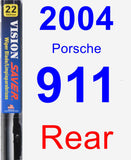 Rear Wiper Blade for 2004 Porsche 911 - Vision Saver