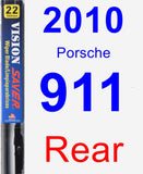 Rear Wiper Blade for 2010 Porsche 911 - Vision Saver
