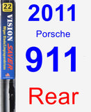 Rear Wiper Blade for 2011 Porsche 911 - Vision Saver