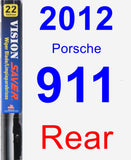 Rear Wiper Blade for 2012 Porsche 911 - Vision Saver