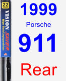 Rear Wiper Blade for 1999 Porsche 911 - Vision Saver