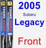 Front Wiper Blade Pack for 2005 Subaru Legacy - Vision Saver