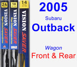 Front & Rear Wiper Blade Pack for 2005 Subaru Outback - Vision Saver