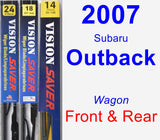 Front & Rear Wiper Blade Pack for 2007 Subaru Outback - Vision Saver