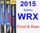 Front & Rear Wiper Blade Pack for 2015 Subaru WRX - Vision Saver
