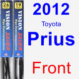 Front Wiper Blade Pack for 2012 Toyota Prius - Vision Saver