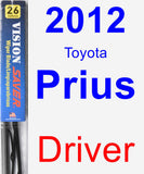 Driver Wiper Blade for 2012 Toyota Prius - Vision Saver