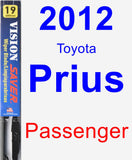 Passenger Wiper Blade for 2012 Toyota Prius - Vision Saver