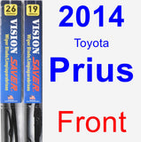 Front Wiper Blade Pack for 2014 Toyota Prius - Vision Saver