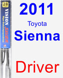 Driver Wiper Blade for 2011 Toyota Sienna - Vision Saver