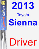 Driver Wiper Blade for 2013 Toyota Sienna - Vision Saver