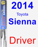 Driver Wiper Blade for 2014 Toyota Sienna - Vision Saver