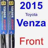 Front Wiper Blade Pack for 2015 Toyota Venza - Vision Saver
