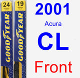 Front Wiper Blade Pack for 2001 Acura CL - Premium