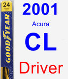Driver Wiper Blade for 2001 Acura CL - Premium