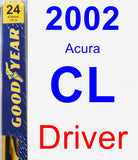 Driver Wiper Blade for 2002 Acura CL - Premium