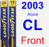 Front Wiper Blade Pack for 2003 Acura CL - Premium