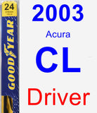 Driver Wiper Blade for 2003 Acura CL - Premium